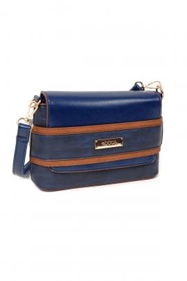 Blue cross body bag