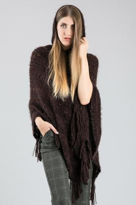 Brown poncho