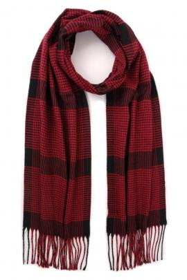 Red men's scarf