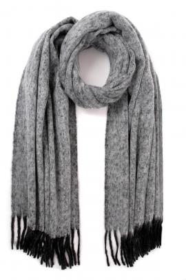 Grey men's scarf