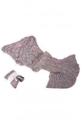 Κουβέρτα-γοργόνα γκρι