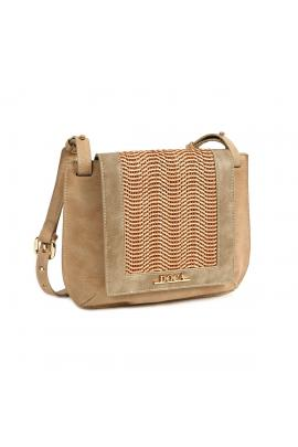 Beige cross bady bag