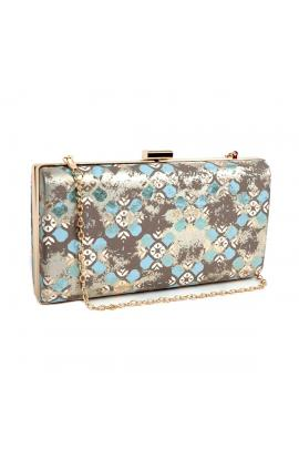 Light blue evening bag