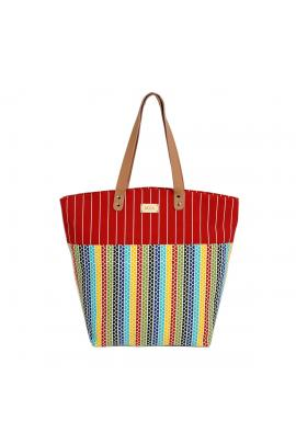 Multi color beach bag